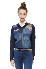 Desigual Blue Denim Xotic Laudio Bomber Jacket 36-46 UK 8-18 RRP �109