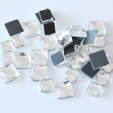 6mm 8mm 10mm Crystal Clear Square Hot Fix rhinestone Flat back DMC HotFix Fancy