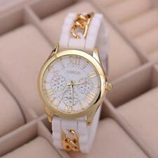 New Women Girl Watch Silicone Roman Numerals Quartz Wrist Watches