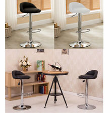 4PCs PVC Leather Gas Lift Bar Stool Kitchen Chairs Package