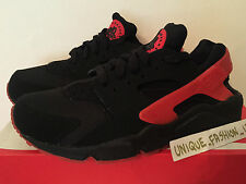 NIKE AIR HUARACHE LOVE HATE PACK QS BLACK RED 12 11 10 9 8 7 6 5.5 OG TRIPLE LE
