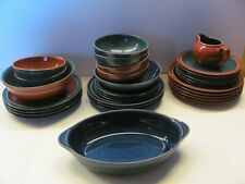 Denby/Langley Harlequin Dinnerware  Red Green Blue Speckled England -Your Choice