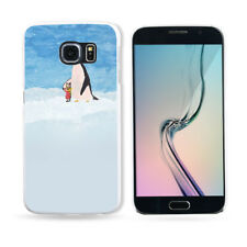 HK- Cartoon Penguin Painted Phone Case for iPhone X 8 Samsung Galaxy Xiaomi Pret