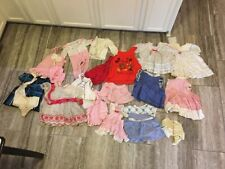 Vintage Baby Girls Toddler Ruffled Dress Childrens Clothes Lot Of 17
