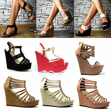 SeXy Ladies' shoes Platform Wedges Sandals Strap Wedge heel Party VARIOUS MODELS