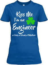 Kiss Me- Im An Engineer St Patricks Day - Me I'm Or Gildan Women's Tee T-Shirt