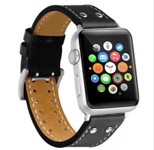 1X For Apple Watch Series 1 2 38/42mm Replacement Real Leather Wrist Band Strap