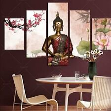 5Pcs/lot Abstract Buddha Canvas Art Painted Picture Oil Painting For Home Decor