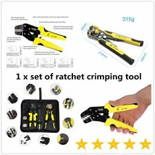 Functional JX-D4301 Ratchet Crimping Tool Wire Strippers Terminals Pliers TF