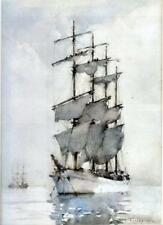Four Masted Barque by Henry Scott Tuke, 1914 (English Sailing Ship Art Print)
