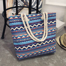 Fashion Women Canvas Shopper Handbag Shopping Summer Beach Shoulder Bag Tote New