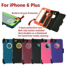 Hard Shell Case Cover w/Screen,Holster Belt Clip fit Otterbox For iPhone 6s Plus