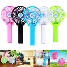 Mini Portable Fan Hand-held Desk Cooler Cooling USB Rechargeable Air Conditioner