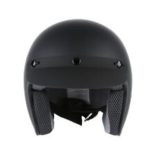 New Matte Black 3/4 Open Face Motorcycle Scooter DOT ADULT Helmet S M L XL TCMT