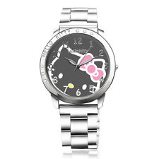 hellokitty watches Lovely Cartoon designer Quartz women wrist watch Luxury Brand