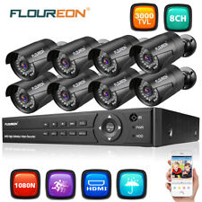 Security 4/8CH 1080N AHD DVR Outdoor Surveillance CCTV Night Camera System Kit