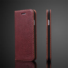 Luxury Snake Skin Case For iPhone 7 Leather Wallet Stand Flip Case Cover For