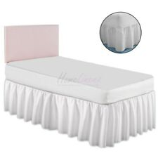 Plain Dyed Fitted Valance Sheet Poly-Cotton Bed Sheet BUNK BED SIZE