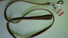 LEATHER 6 FOOT X 5/8 INCH LEASH, US MADE, LATIGO LEAD