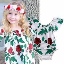 Clothing Cotton Sunsuit Short Sleeves Baby Girl Clothes Floral Romper Jumpsuit