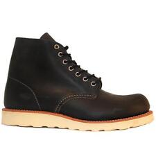 "Red Wing Shoes Round Toe Work Boot 6"" - Black Leather Lace-Up Boot"