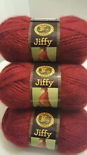 Lion Brand Jiffy Yarn  Lot of 6/Six Skeins Chili color BRAND NEW