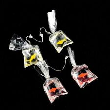 Pendant Goldfish Water Bag Shaped Funny Dangle Earrings Resin Eardrop Earrings
