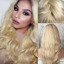 100% Peruvian Remy Human Hair Lace Front Wig Baby Hair Wigs Pre Plucked Blonde Q