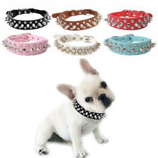 Spiked Studded Rivet Leather Dog Collar Adjustable Neck Strap Puppy Dog Collar