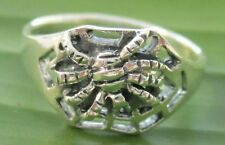"""925 Sterling silver plain OXIDISED """"Spider"""" Ring size 5.5 to 8.75 Women GIRL"""