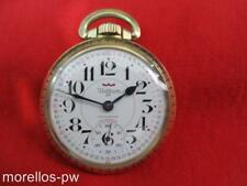 WALTHAM 25 JEWELS MONTGOMERY DIAL 16s POCKET WATCH 10K ROLLED GOLD CASE SERVICED