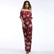 Female Summer Loose Romper Tube Top Suit Jumpsuit with Wide Leg Pants for Beach
