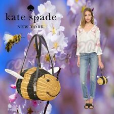 Kate Spade BEE WICKER Down the Rabbit Hole Handbag BRAND NEW WITH TAGS!