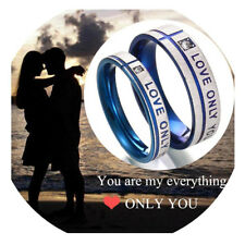 """Fashion Jewelry 316L Stainless Steel Wedding Couple Rings """"Love Only You"""" Gifts"""