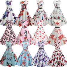 ZAFUL Vintage 50s Retro Style Rockabilly Pinup Housewife Party Swing Tea Dress