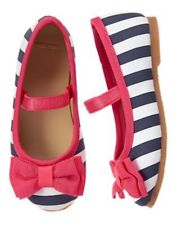 NWT Gymboree Best in Show Striped bow Dress Shoes Flats Toddler Many Sizes