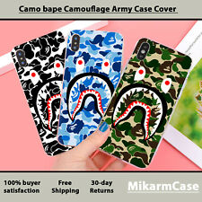 Camo Bape Aape Camouflage Army Transparen clear Case Cover for iphone samsung