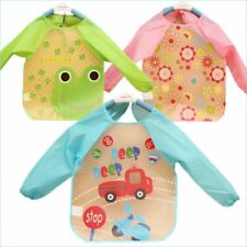 New Cute Baby Toddler Waterproof Long Sleeve Feeding Eating Art Smock Bib Apron