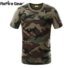 Summer Military Camouflage T-shirt Men US Army Combat Short Sleeve Tactical T