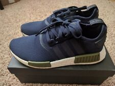 Adidas NMD R1 COLLEGIATE NAVY/OLIVE CARGO/CHALK WHITE AC7065 Mens NEW