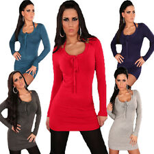 Ladies Knitted Dress Pullover Sweater Sweater S 34 36 38 Neck Support Warm Sexy
