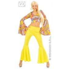 Ladies 70s Funky Lady 2 Piece Costume Groovy 70s Disco Hippy Fancy Dress Outfit