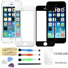 Replacement Front Screen Glass Lens Repair Tools Kit Sticker For iPhone 4 4S