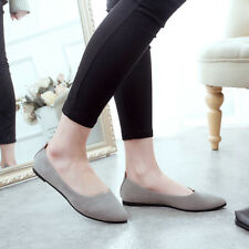 Fashion Womens Boat Shoes Suede Ballet Slip On Flats Loafers Casual Single Shoes