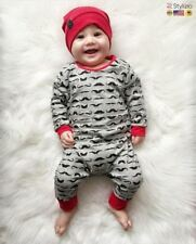 NEW Baby Rompers Children Newborn Clothes Cotton Long Sleeve Mustache Printed Bo