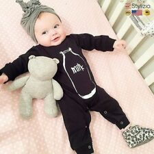 NEW Black Baby Rompers Boy Clothes Long Sleeve Newborn Cotton Girl Clothing Infa