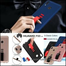 Etui Housse Finger Grip Shockproof Soft TPU Case Cover pour Huawei P20 Lite