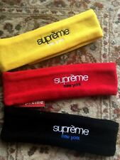 ORIGINAL! Supreme New Era x New York Headband Fleece Red Black Yellow with Tag