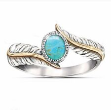 2Pc Fashion Jewelry 925 Silver Plated Gemstone Wedding Ring Gifts Size 6-10
