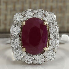 925 Silver Plated Hip Hop Red Ruby Filled Engagement Ring Jewelry Gift Size 6-10